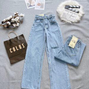 Quần jeans nữ rách ống suống giá rẻ