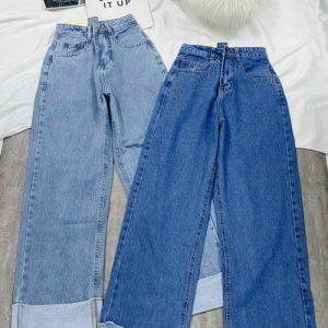 quần jean nữ lưng cao ống suông giá rẻ