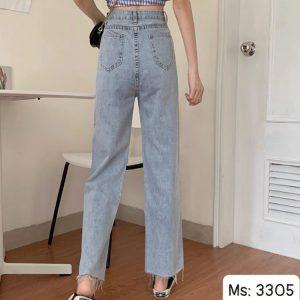 quần jean ống suông dài