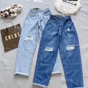 quần jeans nữ ống suông dạng kiểu gia rẻ