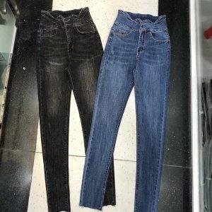 quần jeans nữ dạng ôm lưng kiểu giá rẻ